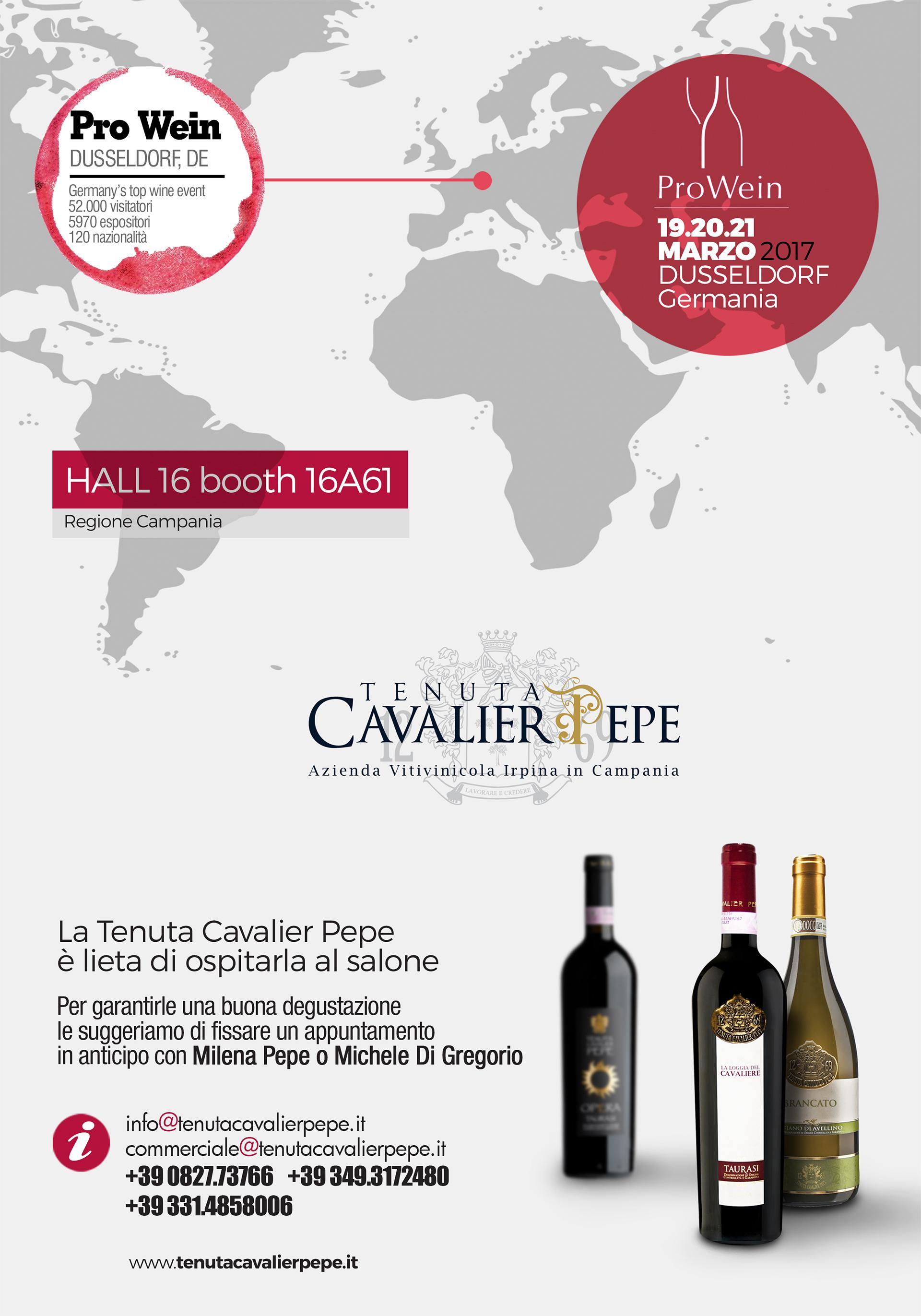 prowein, tenuta cavalier pepe, taurasi, vino italiano
