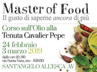 Master of Food<br>Il gusto di saperne ancora di più <br> Corso sull'olio alla Tenuta Cavalier Pepe