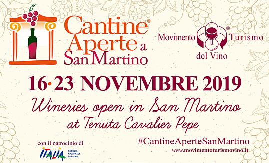 Wineries open in San Martino<br>at Tenuta Cavalier Pepe