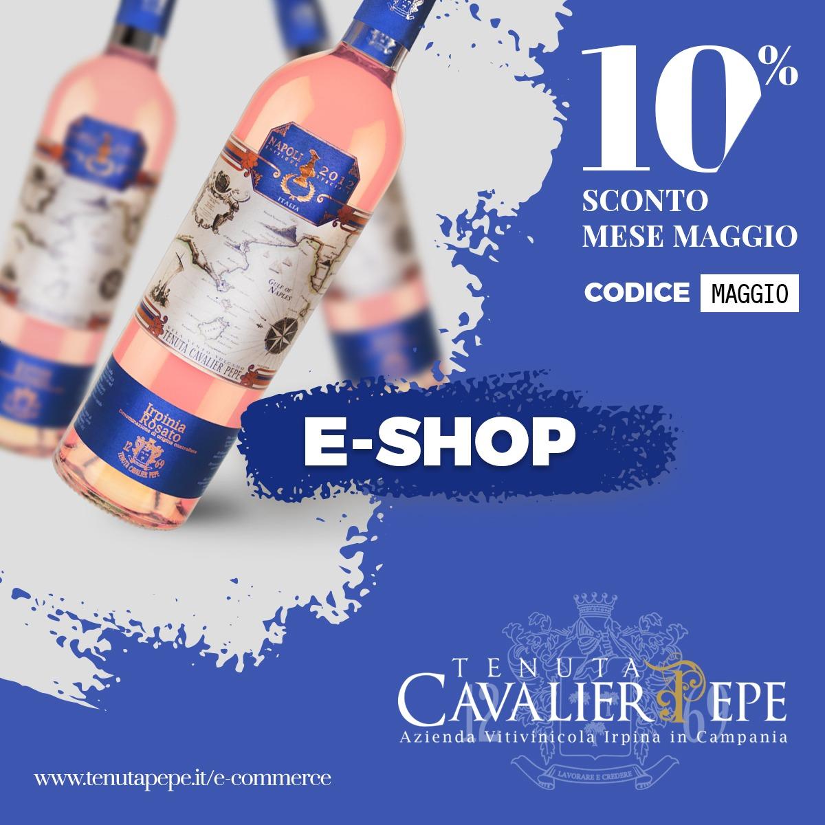 È online lo Shop <br> firmato Tenuta Cavalier Pepe