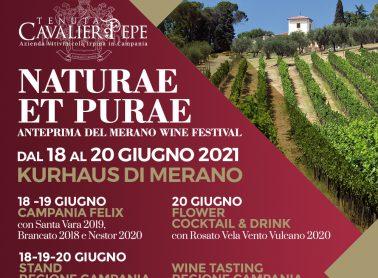 I vini della Tenuta Cavalier Pepe, protagonisti a Merano per Naturae et purae e a Verona per Vinitaly Preview
